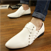 Lace-Up Men  hot sell British pointed with breathable leisure men's shoes Dress shoes free shipping