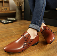 Lace-Up Men  2014 hot sell British pointed with breathable leisure men's shoes Dress shoes