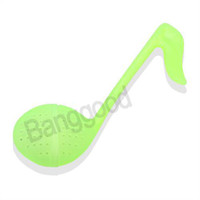 Tea Strainers Plastic ECO Friendly Wholesale - 5pcs lot Plastic Musical Note Music Symbol Tadpole Shaped Tea Leaf Strainer Teaspoon Infuser Filter Green Free Shipping