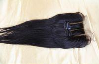 Wholesale 100 Brazilian straight hair b lace top closure Brazilian lace Part closure way part human hair supplier