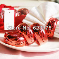 April Fool's Day Wedding Other Wholesale - 4 Piece Pack Red Ceramic Ring Napkin Rings Wedding Favor (Set of 4 Packs)
