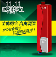 Wholesale Flower tankless heater small casserole hot water po over the water heat heated electric water heater small simple shower