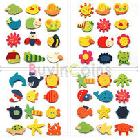 Wholesale 24PCS Funny Lovely Cute Mixed Cartoon Wooden Kitchen Fridge Refrigerator Magnet