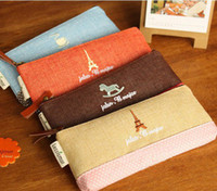 Fabric   fashion simple cotton pencil cases creative stationery best gift for kids