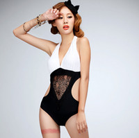 Wholesale 2014 New Sexy Hollow out triangle connection swimming swimsuit Bikini elastic Bathing Suits For Women swimwear Large size swimsuit TY28