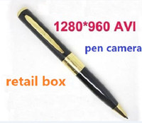 No avi video card - Spy pen Video Record Camera with retail box HD DVR Supports Micro SD Card avi Hidden pen camcorder from coolcity2012