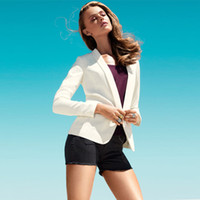 Wholesale Free shpping women blazer with shawl collar no deduction long sleeve sheath european style fashion sexy D114