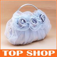 Wholesale Bridal Handbags Evening Bag Silk cm Flowers Party Bags Bridal Accessories