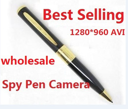 Wholesale 2016 mini spy pen camera with fps spy pen camcorder with AVI black color Spy Pen Camera Hidden Camera from coolcity2012