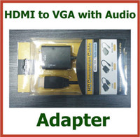 Adapter audio cable laptop tv - 20pcs Adapter HDMI to VGA with Audio Cable HDMI Male to VGA Female Converter p for TV PC Xbox Laptop Connector DHL