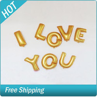 Wholesale 26pcs Inch Gold and Silver Letter Foil Balloons A Z For Wedding Birthday Party