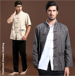 Wholesale 2014 Spring New Vintage Traditional Chinese Clothing Cotton Linen Chinese Men s Tang Suit Tops