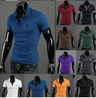 Men Cotton Polo Free shipping Summer New Men's Classic High Quality Short Sleeve POLO T-Shirt Deer Embroidery Logo Polo Shirt M-XXL t01035