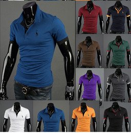 Wholesale Summer New Men s Classic High Quality Short Sleeve POLO T Shirt Deer Embroidery Logo Polo Shirt M XXL t01035