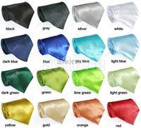 Wholesale EMS colors in choice New Solid Color Plain Silk Men s Tie Necktie silk tie white necktie silk jacquard woven tie fx28