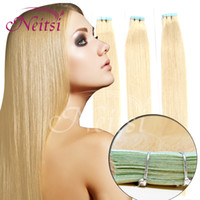 Wholesale 20pcs g Brazilian Virgin Remy Human Skin Weft Tape in Hair Extensions quot b Ombre Clip In On Ponytail Hair Extensions
