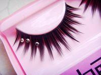 006-022 cosmetic glitter - Natural long thick false eyelash with Rhinestone Glitter shimmery top quality false eye lash extensions japan korea eye makeup cosmetics