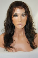 Wholesale 20 quot custom hand made full lace wigs Indian remy hair with French lace ear to ear stretch cap