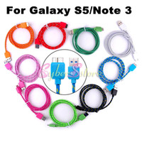 For Samsung   Colorful 1M 3FT Braided Fabric USB Data Line Sync Charger Cable Micro Cable Cord For Samsung Galaxy S5 S 5 i9600 Galaxy Note 3 N9000