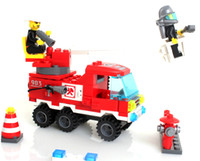 Building Plastic Blocks Models & Building Toy Plastic Blocks DIY Kids Enlighten 903 Fire Rescure Truck