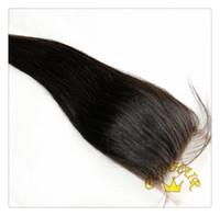 Brazilian Hair Natural Color Straight Puja hair : Free Part 6A Brazilian Remy Hair Silk Base Top Lace Closure Silky Straight Natural Color
