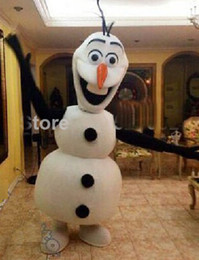 Wholesale Adult Frozen Olaf Snowman Mascot Fancy Dress Costume EMS