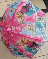 Wholesale 2015 Umbrellas for kids gift Frozen Umbrella Frozen Princess Elsa Anna Children Umbrella cm Frozen Series NEW Arrival