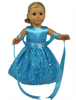 Wholesale Doll Clothes fits American Girl Dolls Blue Doll Dress