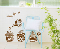 Wholesale Hello Potted Vinyl Wall Stickers Potted Wall Stickers Home Decoration Wall decals for Kids Nursery Living Rooms