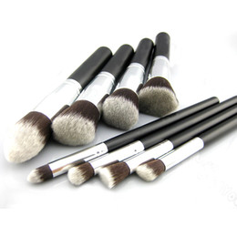Wholesale S5Q Premium Synthetic Pro Make up Brush Set Cosmetics Foundation Blending Blush Tools AAABZQ