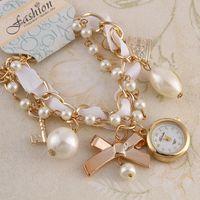 Women watch Fashion Bracelet clasp Quartz Watches Bowknot Ca...