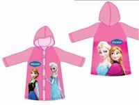 Wholesale 2014 Frozen Raincoat Frozen Princess Elsa amp Anna Children Raincoat Frozen Series NEW Arrival