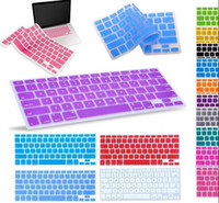 Wholesale USA US America Language Clear crystal Elastic Silicone Keyboard Protective Cover skin For Macbook Air quot quot Pro quot quot Laptop keyboard