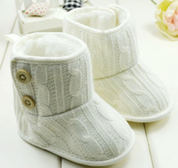 Wholesale 8 off hot sale Rice white The knitting Comfortable Keep warm Baby boots Non slip soft bottom toddler shoes DROP SHIPPING pairs C