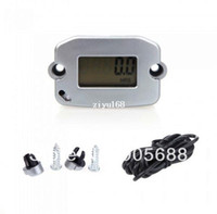 Wholesale 20set Digital Hour Tach Meter Gauge Tachometer Resettable LCD h RPM Silver