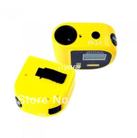 Wholesale Handheld Ultrasonic Distance Meter Measurer Tool LCD Laser Pointer Designator Backlight m ft