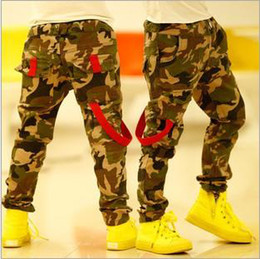 Wholesale spring children s clothing baby boy Camouflage trousers Washed Jeans elastic waist cool pants good