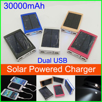 0-20 W charger solar mobile charger - High Capacity Solar Powered Charger Dual USB port Power Bank mAh solar Charger and Battery for Mobile Phone Tablet Cellphone MP4 Laptop