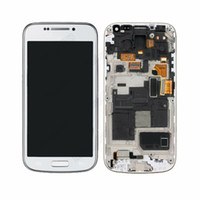 Wholesale LCD Assembly Display Touch Screen Digitizer with frame Replacement For Samsung Galaxy S4 Mini i9195