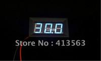 Wholesale 1pc Digital Blue DC4 V Two Wire VoltMeter LED Digital Voltage Panel Meter For Car motorcycle Battery car