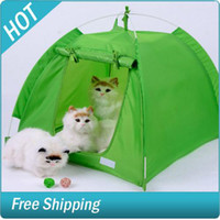 Wholesale Wave point Tent sizes Folding portable Pet dot cat tent bed beds house kennel cage