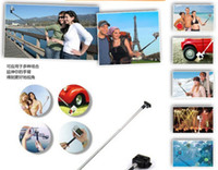 Wholesale Hotsale Self timer Mobile Phone Camera Tripod Extendable Retractable Handheld Camera Monopod with cellphone holder for S4 S5 iphone5