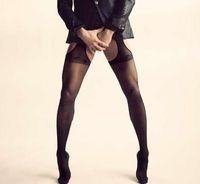Wholesale Male Sexy Hollow Out Stockings Men Socks Pantyhose Black Flesh Worldwide Cheap Price New Design