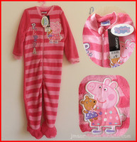 Unisex Spring / Autumn  New Baby peppa pig one-pieces romper peppa pig baby girls jumpsuits baby coral fleece rompers children sleeping bags kids pajamas 1-6T Melee
