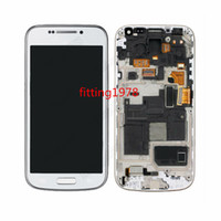 Wholesale 5 pc LCD Display Touch Screen Digitizer with frame Replacement For Samsung Galaxy S4 Mini i9195 by free DHL EMS