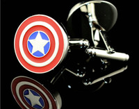 Wholesale Marvel Captain America Cufflinks Men Jewelry Cuff Links Accessories C1