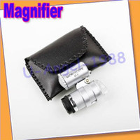 Wholesale X Mini Pocket Microscope Magnifier Magnifying Glass Jeweler Loup LED Light