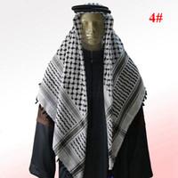 Wholesale Arab scarf tactical scarf male bandanas clothing muslim hijab for mens islamic headscarf head hoop colors