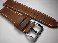 Wholesale Handmade Custom Brown Watch Band mm Leather Strap Brown Men Watch Band For Panerai