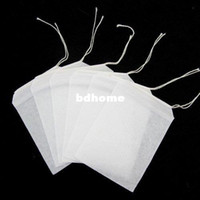 Wholesale 100pcs Empty Teabags String Heat Seal Filter Paper Herb Loose Tea Bags Teabag